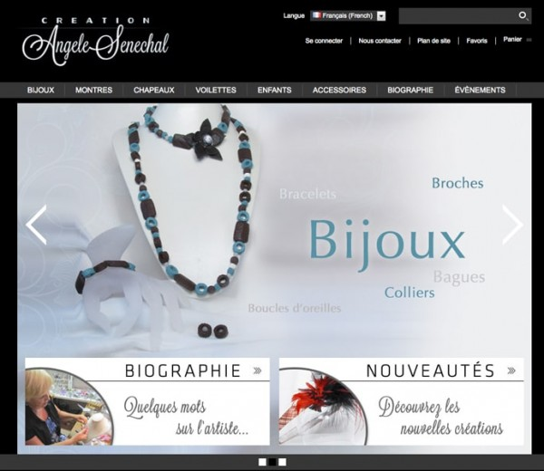 Création Angèle Sénéchal  Boutique en ligne