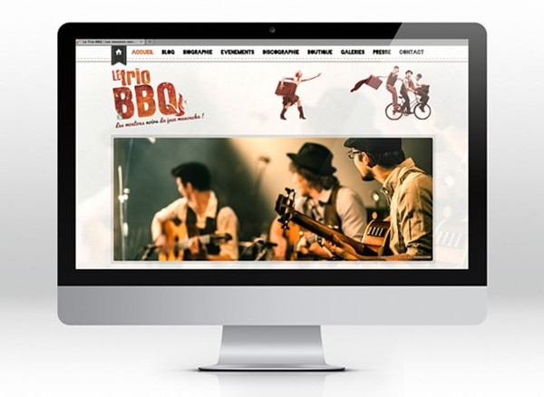 Le Trio BBQ  site web WordPress