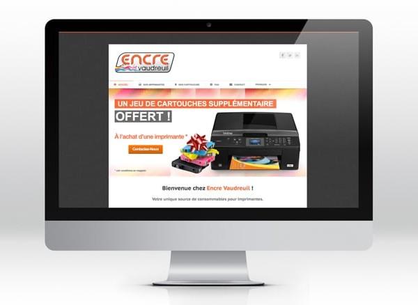 Encre Vaudreuil  Site web wordpress