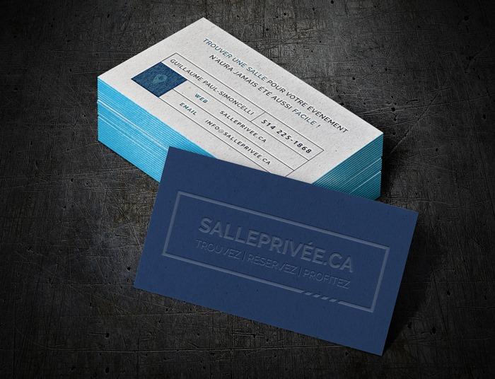Cartes d'affaires pour SallePrivée.ca