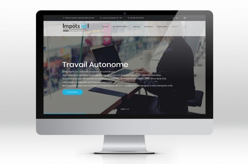 Création de site web Wordpress pour Impôts Ici à Montréal