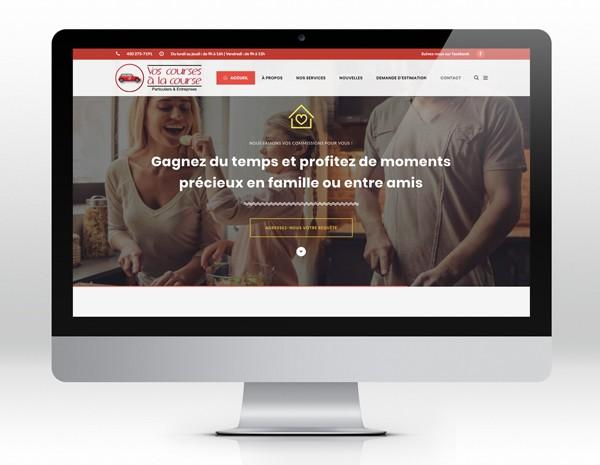 Vos courses à la courseSite web